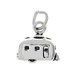 Sterling Silver Small Three Dimesional Camper Vacation Trailer Charm