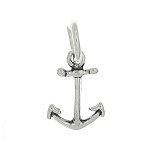 Sterling Silver Plain Faith Anchor Charm