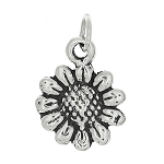 Sterling Silver Small Wild Sunflower Charm