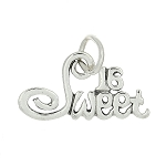 Sterling Silver Flat One Sided Sweet 16 Charm