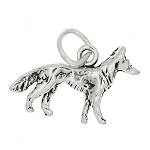Sterling Silver Small German Shepherd Dog Charm