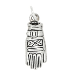 Sterling Silver One Sided Winter Glove Charm