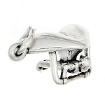 Sterling Silver Three Dimensional Hang Glider Charm
