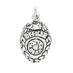 Sterling Silver Police Officer Badge Charm
