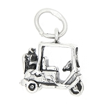 Sterling Silver Three Dimensional Golf Cart Charm