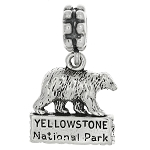 Silver Dangling Travel Yellowstone National Park European Bead