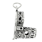 Sterling Silver Travel Watch Tower Grand Canyon National Park Charm Pendant -with Options