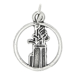 Sterling Silver Golf Clubs and Bag Cut Out Disc Charm