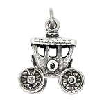 Sterling Silver Old Time Carriage Coach Wagon Charm