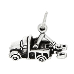 Total 48 of Sterling Silver 3d Towing Tow Truck Charm Pendants