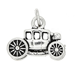 Sterling Silver Three Dimensional Stagecoach Charm