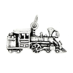 Sterling Silver Large Three Dimensional Train Charm