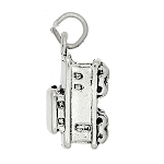 Sterling Silver Three Dimensional Caboose Charm