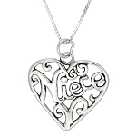 Sterling Silver Niece Heart Charm with 18