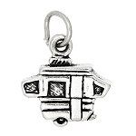 Sterling Silver Small Pop Up Camper RV Motor Home Charm Pendant