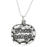 Sterling Silver Stonehenge Monument Travel Charm Necklace -with Options