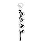 Sterling Silver 3D Paddle Rowing Crew Sport Charm