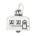 Sterling Silver Mini Rv Vacation Trailer Charm