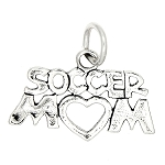 Sterling Silver One Sided Soccer Mom Charm