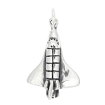 Sterling Silver Space Shuttle Charm