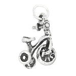 Sterling Silver Three Wheel Tricycle Charm