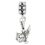 Sterling Silver Three Dimensional Comet Dangle Bead Charm