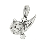 Sterling Silver Three Dimensional Comet Charm