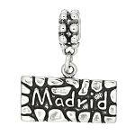 Silver Dangling Travel Madrid Spain Dangle Bead Charm