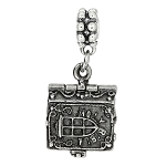 Sterling Silver 3D Movable Holy Bible Dangle Bead Charm