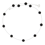 8mm Genuine Black Onyx Floating Necklace