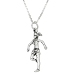 Sterling Silver Three Dimensional Female Runner Necklace