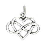 Sterling Silver Heart with Infinity Symbol Charm