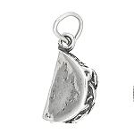 Sterling Silver Three Dimensional Taco Charm