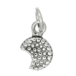 Sterling Silver Tiny Pecan Pie Charm