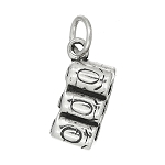 Sterling Silver Six Pack of Soda Pop Cola Cans Charm