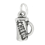 Sterling Silver One Sided Small Cheers Mug Charm