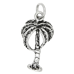 Sterling Silver One Sided Palm Tree Charm