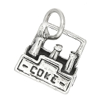 Sterling Silver Three Dimensional Six Pack of Coke Charm