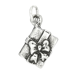 Sterling Silver Present with Bow Charm