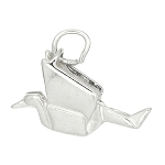 Sterling Silver Double Sided Origami Crane Bird Charm