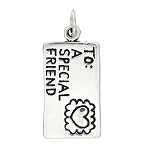 Sterling Silver Envelope Love Letter Special Friend Charm