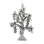 Sterling Silver Money Tree Charm