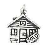 Sterling Silver Realtor House Sold Charm or Pendant