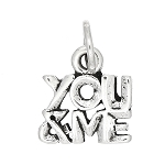 Sterling Silver You and Me Charm