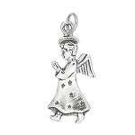 Sterling Silver Angel with Wings Praying Charm
