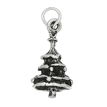 Sterling Silver Three Dimensional Christmas Tree Charm