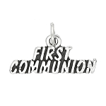 STERLING SILVER FIRST COMMUNION CHARM PENDANT