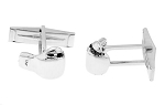 Sterling Silver 3D Boxer's Fighting Boxing Glove Cufflinks