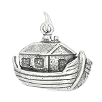 Sterling Silver One Sided Noah's Ark Charm