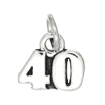 Sterling Silver Number 40 Charm